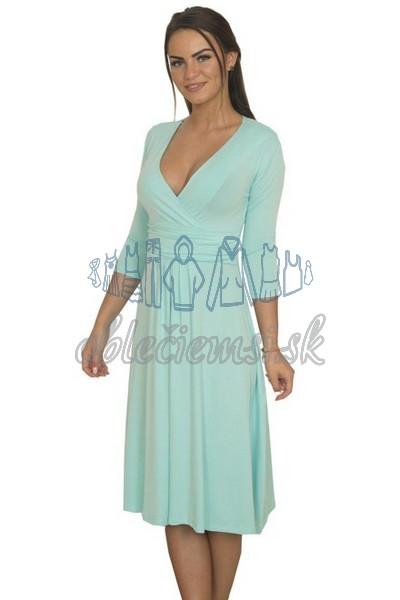 Midi šaty s 3-4 rukávom – baby blue 1