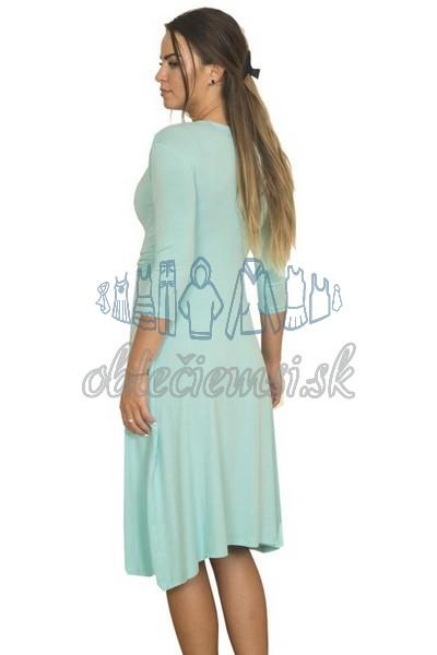 Midi šaty s 3-4 rukávom – baby blue 2