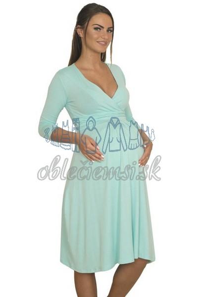 Midi šaty s 3-4 rukávom – baby blue 3