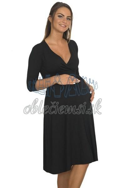 midi šaty s 3-4 rukávom – čierna 3