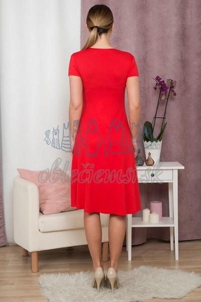 áčkové šaty s krátkym rukávom – červená 2