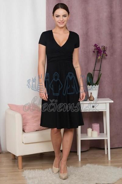 5bcbe9cc84dd áčkové šaty s krátkym rukávom – čierna 1