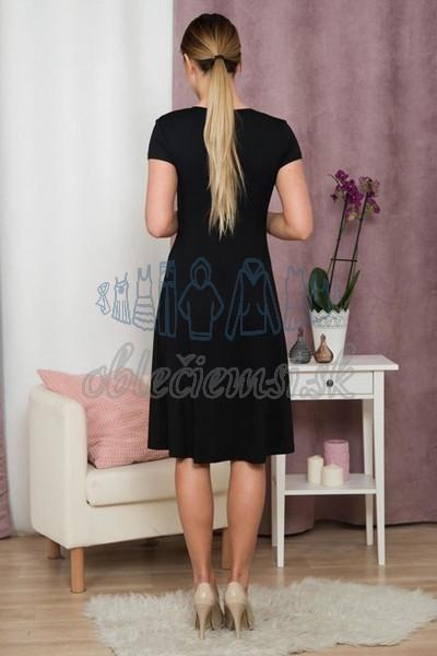 áčkové šaty s krátkym rukávom – čierna 2