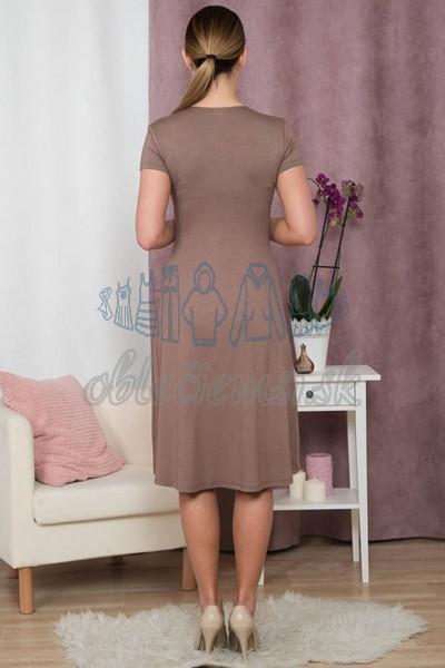 áčkové šaty s krátkym rukávom – cappuccino 2