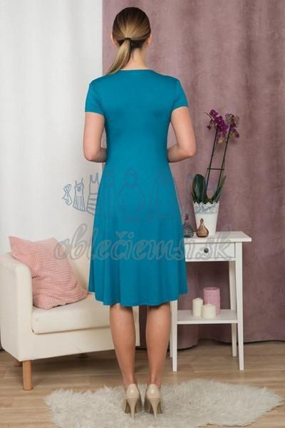 áčkové šaty s krátkym rukávom – modrá 2