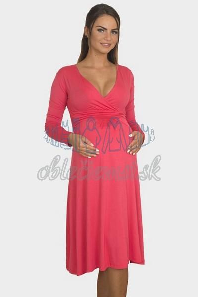 áčkové balnené šaty s riasením – fuchsia 3