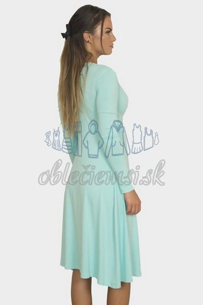 áčkové balnené šaty s riasením – mintová 2