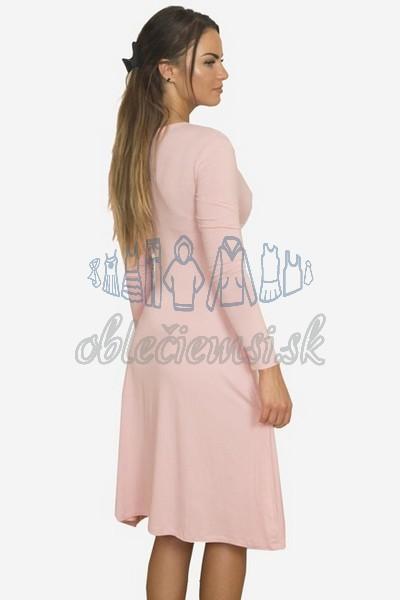 áčkové balnené šaty s riasením – pudrová 2
