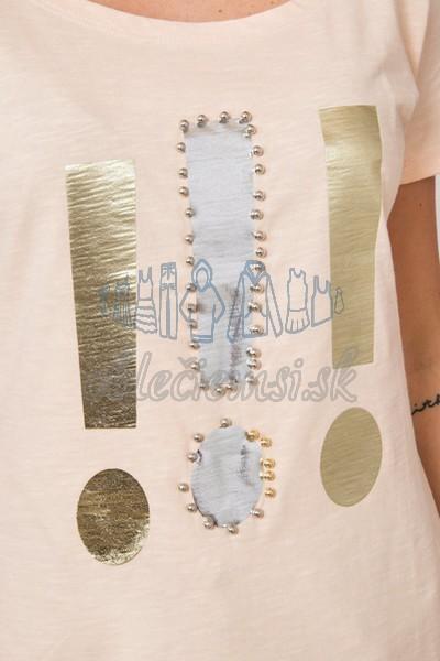 basic tričko s potlačou – broskyňová 3