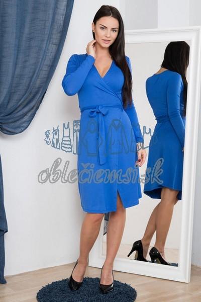 zavinovacie šaty – modrá 1 ec000436222