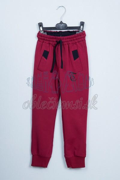 Športové nohavice bordové 1