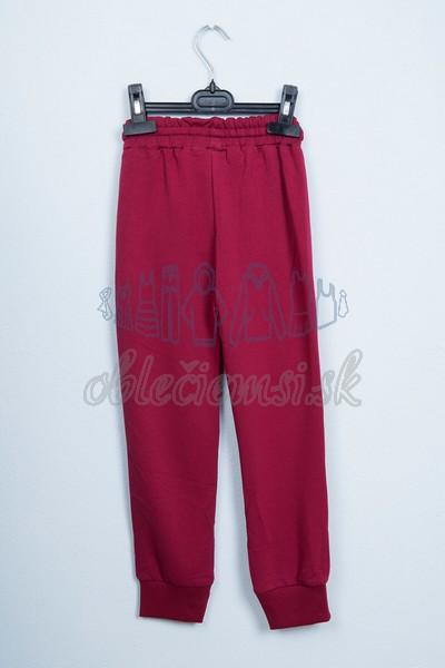 Športové nohavice bordové 2