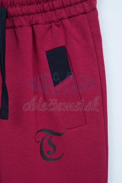 Športové nohavice bordové 3