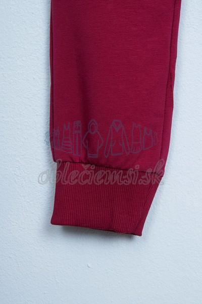 Športové nohavice bordové 4