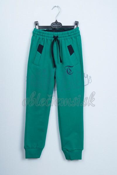 Športové nohavice zelené 1
