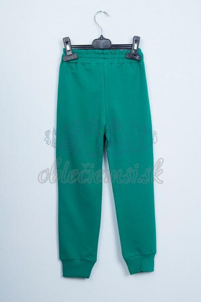 Športové nohavice zelené 2
