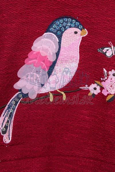 Mikina s vtákom bordová 3