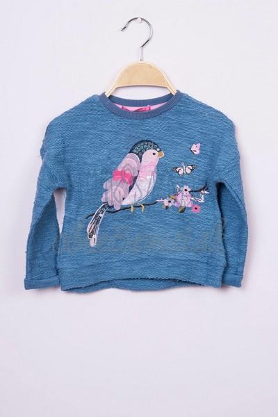 Mikina s vtákom modrá 1
