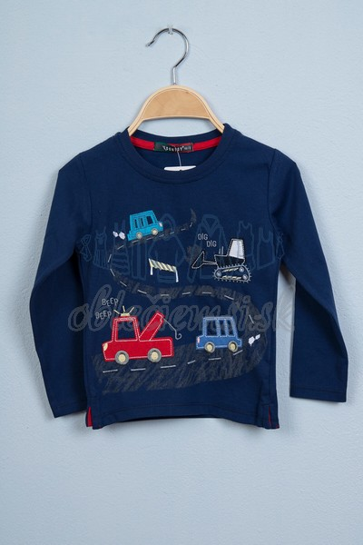 Tričko s autami tmavomodrá 1