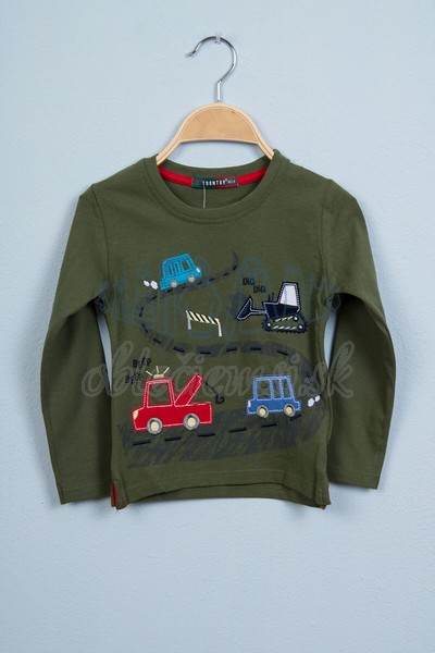 Tričko s autami tmavozelená 1