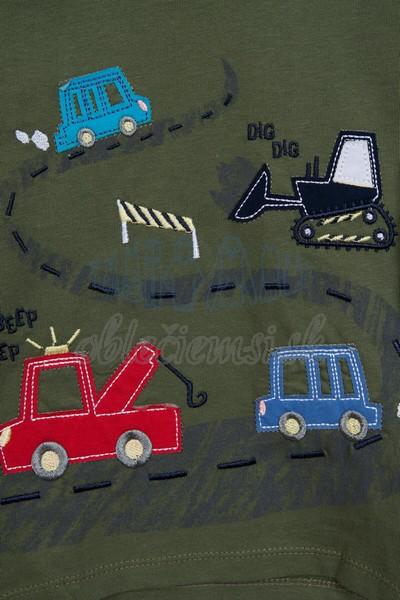 Tričko s autami tmavozelená 3