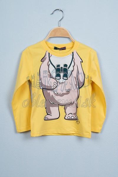 Tričko s medveďom žltá 1