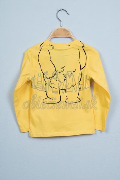 Tričko s medveďom žltá 2