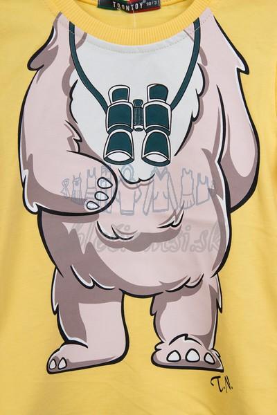 Tričko s medveďom žltá 3