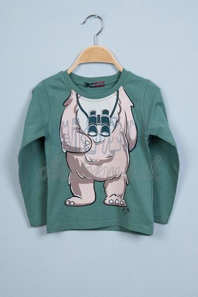 Tričko s medveďom svetlozelená 1