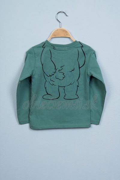 Tričko s medveďom svetlozelená 2