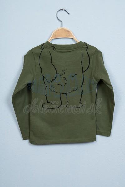 Tričko s medveďom tmavozelená 2
