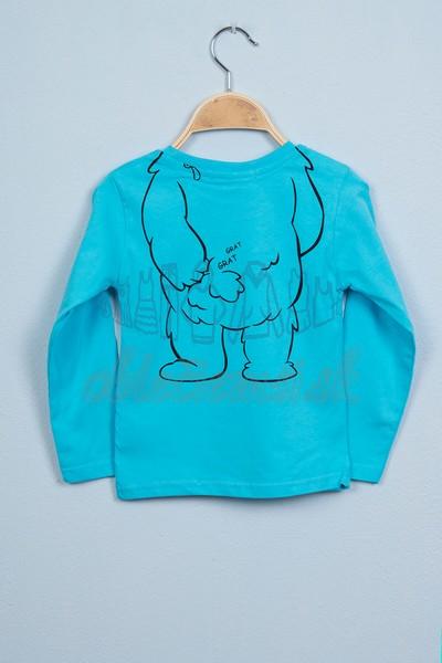 Tričko s medveďom tyrkys 2