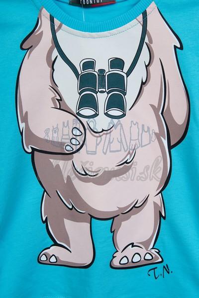 Tričko s medveďom tyrkys 3