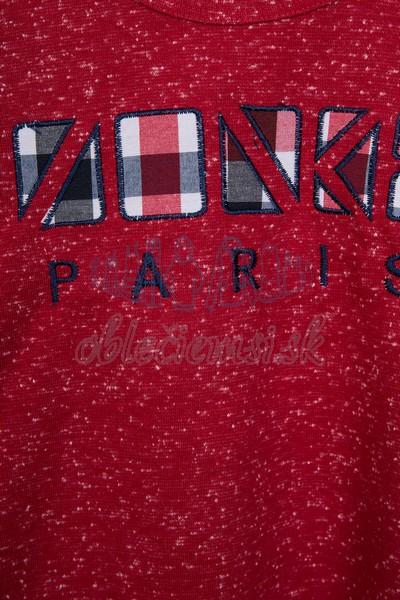 Tričko s nápisom Paris bordová 3