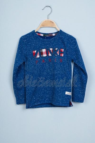 Tričko s nápisom Paris modrá 1