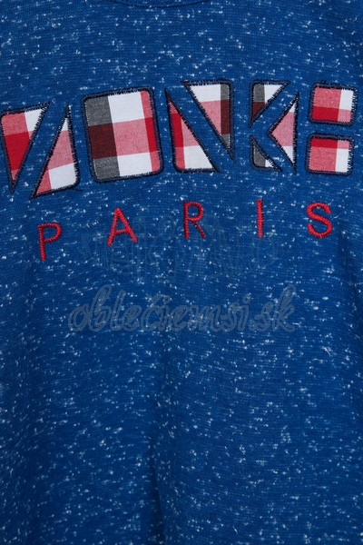 Tričko s nápisom Paris modrá 3