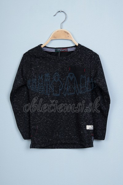 Tričko s vreckom čierna 1