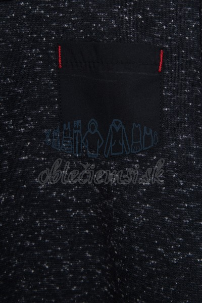 Tričko s vreckom čierna 3