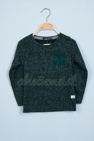 Tričko s vreckom zelená 1