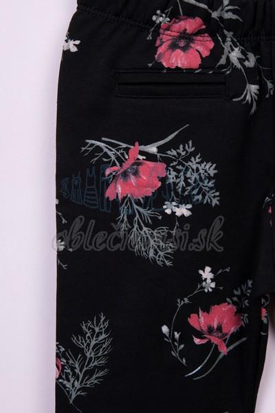 kvetované legíny čierna 2